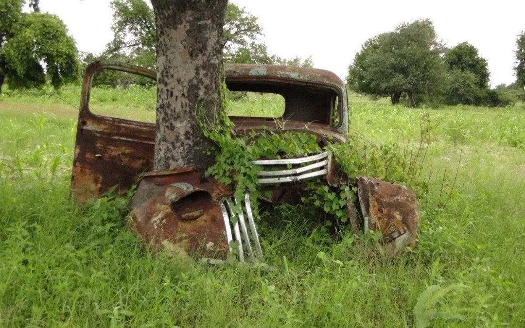 Maison de retraite pour vieilles voitures en Namibie